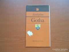 GOTHA NÉMET (NDK) VÁROSTÉRKÉPE 1987