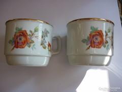 Zsolnay - rózsás csészék