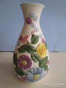 Gyönyörű és ritka Passau  fajansz.váza a 19 sz.ból