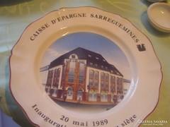 Sarregemines tányér