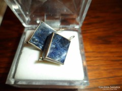 Ezüst fülbevaló / lapis lazuli