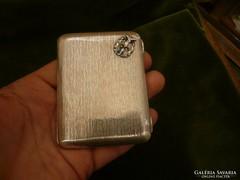 Címeres ezüst cigarettatárca