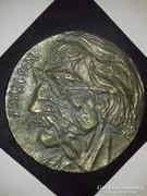 """Baróthi Ádám """"Kós Károly"""" óriási bronz fali relief plakett"""