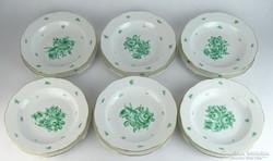 0K844 Régi Herendi porcelán étkészlet 12 darab