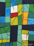 Széttört mozaik - eredeti,modern festmény