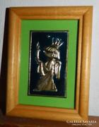 Tündér királylány gyertyával - tűzzománc kép - jó ajándék :)