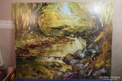 Kusztura Sándor festmény - erdélyi alkotás,nagy méretű, olaj