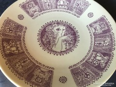 Zsolnay porcelán, tányér Szász mintával