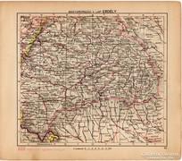 Magyarország térkép I. 1929, Erdély, magyar nyelvű, régi