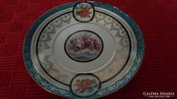 Jelenetes régi teás csésze alj pótlásnak, tányér, tál.