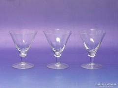0L176 Régi likőrös talpas üveg pohár 3 darab