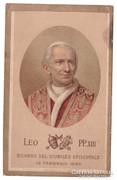 Antik Leó pápa litografált nyomtatvány 1893