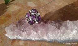 Ametiszt köves 925 ezüstgyűrű ezüst gyűrű