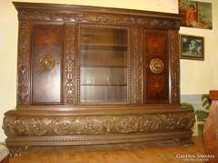 Antik  faragott  dolgozószoba bútor