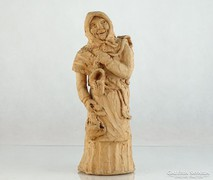 0L346 Kerámia fejkendős anyóka szobor 28 cm