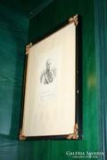 Gyönyörű keretben: I. Ferenc rézkarc
