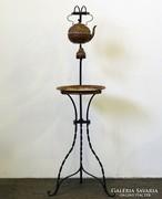 0L374 Kovácsoltvas és réz teázó állvány 130 cm