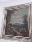 Festmény alpesi táj