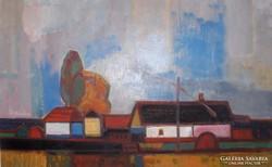 Moldován István festménye :Tanya c.