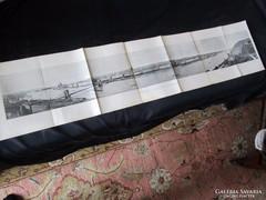 NAGY MÉRETŰ PANORÁMA FELVÉTEL LITOGRÁFIA BUDAPEST  1896