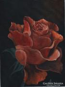 Vörösben pompázva c. festmény, csendélet