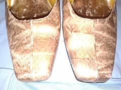 Antik kígyóbőr alkalmi cipő, 38 ? elegáns vintage, valódi bőr
