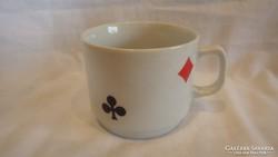 Zsolnay porcelán kártyamotívumos bögre