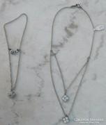 Minőségi elegáns köves bizsu ékszer szet - nyakék + karkötő