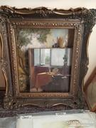 Antik blondel keret 56x69 cm belméretű