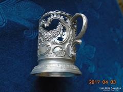 D.R.G.M.-158585-Német 1910 előtti Birodalmi védjeggyel-girlandos ón pohártartó