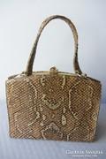 Valódi kígyóbőr retikül táska szép állapotú régi darab 1969