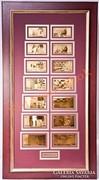 24K arany EURO bankjegyek HATALMAS gyűjtemény