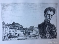 """""""150 éve született Petőfi Sándor"""" Rézkarc"""