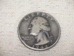 1942  ezüst  negyed  dollár.................................