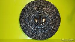 Tormássy G bronzírozott falidísz fali kép
