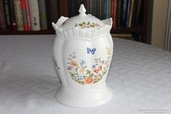 Nagyméretű porcelán kekszes doboz - Aynsley Cottage Garden
