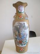 Régi madaras kínai váza kb. 60 cm