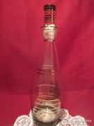 Aranyozott likőrös boros üveg 27 cm  A001