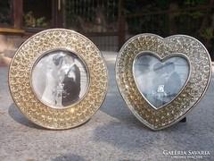 Új Strasszdíszes fotokeret 2 féle dekoratív -ajándékba is