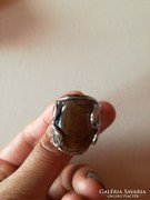 Barna köves női gyűrű