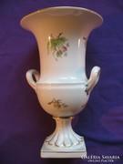 Herendi váza díszváza hecsedli dekor 25 cm 0,9 kg hibátlan