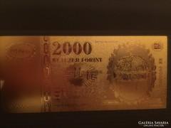 2000 Ft (24 karátos arannyal bevonva)