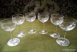 6 db. csiszolt likőrős pohár