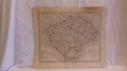 Régi térkép 1830 Cseh Királyság