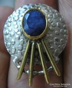 Viktoriánus stílus, zafír 925 ezüst gyűrű 17,1/53,7 mm