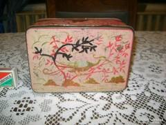 Régi lemez doboz - madaras