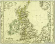0L614 Antik acélmetszet térkép A BRIT SZIGETEK