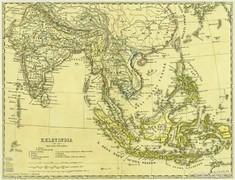 0L619 Antik acélmetszet térkép KELETINDIA