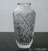 0L599 Vastagfalú csiszolt üveg váza 20.5 cm