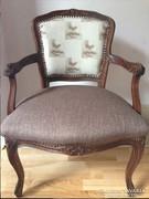 Barokk fotel, karfás szék.  Restaurált